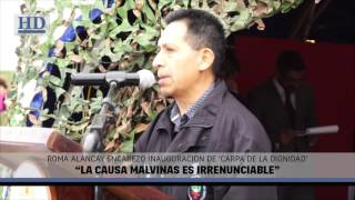 "Video: Alancay: ""La Causa Malvinas es irrenunciable"""
