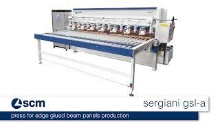 scm sergiani gsl - press for edge glued beam panels production