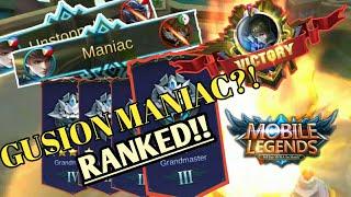 BASIC GUSION MANIAC GAMEPLAY!! MOBILE LEGENDS:BANG BANG!
