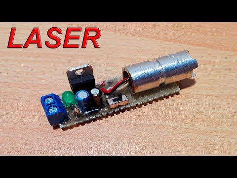 DIY - Red Laser Module (Electric diagram in video) - By STE