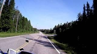 Motorrad in Lappland Finnland (1)