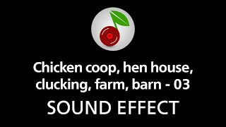 Chicken coop, hen house, clucking, farm, barn - 03, sound effect