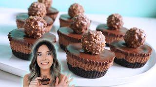 NO-BAKE Mini Nutella Cheesecakes