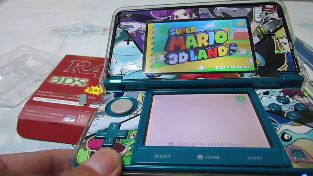 R4i B9S card 3DS games tested on 3DS Sys 11 6 0-39J