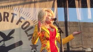 Download Dolly Parton Surprise Guest at Newport Folk Festival, Crowd Goes WILD, July 27, 2019 Mp3 and Videos
