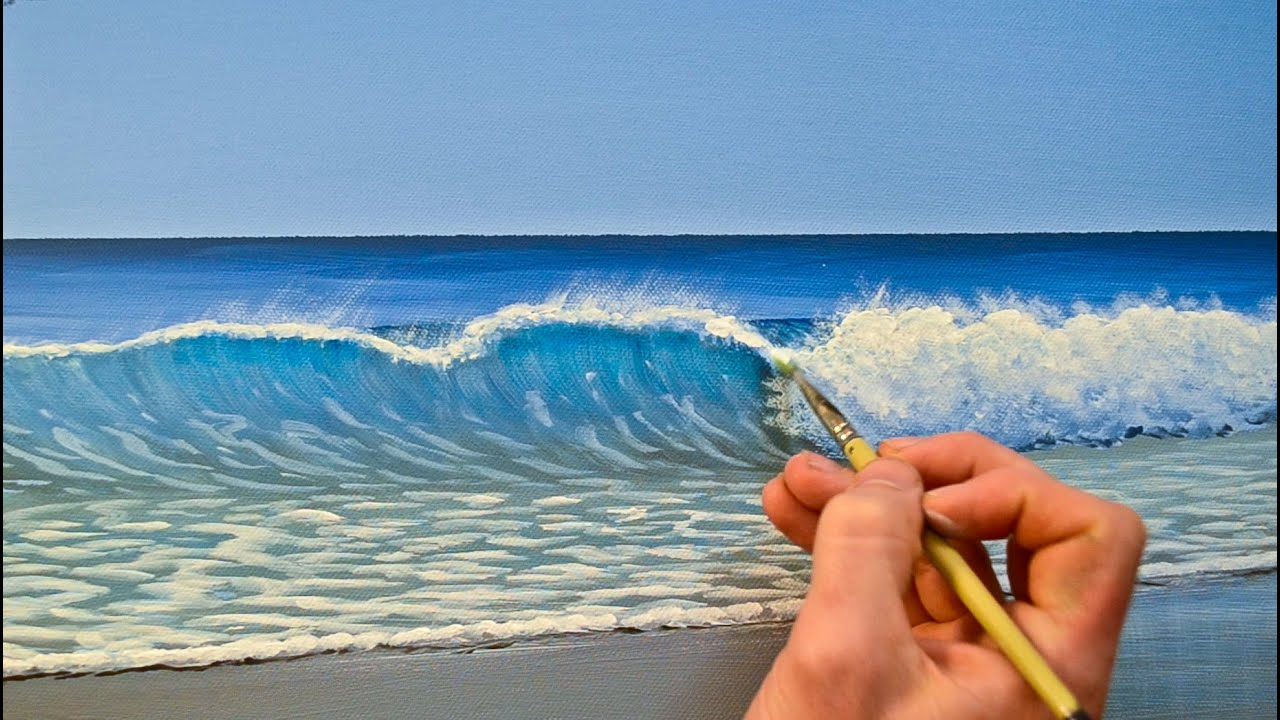 How to Paint a Wave in Acrylics  YouTube