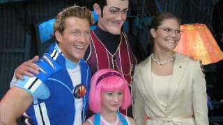 Repeat youtube video Lazy Town detras de esenas