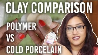 Clay Comparison: Polymer vs Cold Porcelain