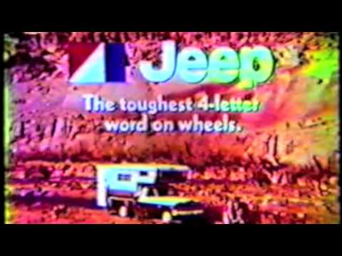 AMC Jeep J20 Camper Commercial