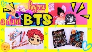 DIY K-POP : DECORA TUS UTILES ESCOLARES BTS ♡ MOCHILA - CUADERNOS - LIBRETAS ♡ Manualikpop