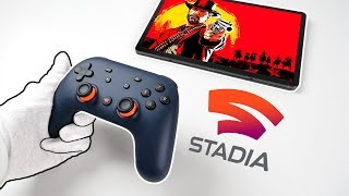 "Google Stadia ""Console"" Unboxing - The Future of Gaming? (Gameplay Review + Controller)"