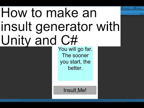 How to make an insult generator with Unity and C#
