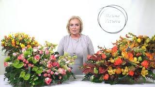 Превью мастер-класса Марины Петровой - большая, презентабельная корзина с цветами