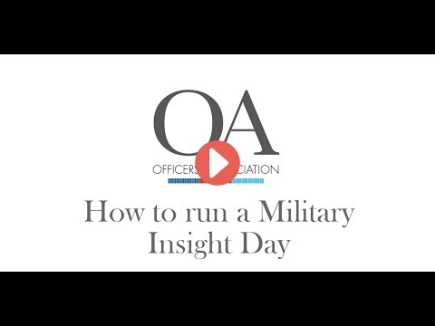 Running a Military Insight Event