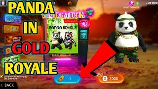 Panda Royale in Gold At Freefire || How to Get panda in Freefire || New Royale Panda Royale