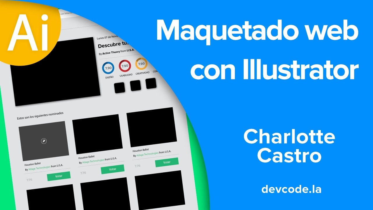 Maquetar una web con Illustrator - YouTube