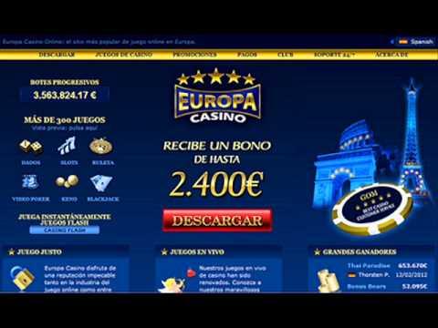 Bono bienvenida de Casino Europa