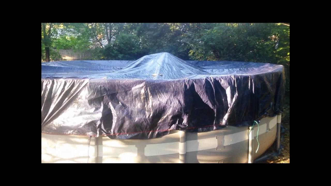 How to inexpensively Winterize an Intex above ground pool Intex