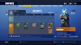 "Fortnite ""SEASON 5 BATTLE PASS"" Showcase! - ALL NEW Skins, Gliders, Emotes in Fortnite Season 5!"
