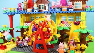 Peppa Pig Building Blocks House Toys For Kids - Lego Duplo House With Water Slide Creations Toys #6
