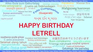 Letrell   Languages Idiomas - Happy Birthday