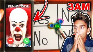DO NOT PLAY CHARLIE CHARLIE FIDGET SPINNER WHEN CALLING PENNYWISE (FROM IT 2) AT 3AM!! *THIS IS WHY*