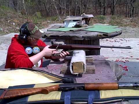 Anthony shooting remington model 513 22caliber