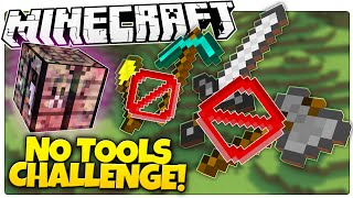 Think You Can Beat Minecraft Without TOOLS!? | Minecraft No Tools Challenge (Custom Command)