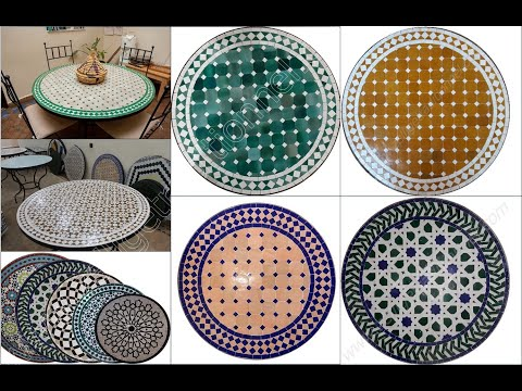 Moroccan mosaic ceramic table 2017 youtube for Carrelage zellige sol
