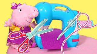 A new dress for Peppa Pig. Peppa Pig English episodes. Peppa Pig & Mummy Pig routines.