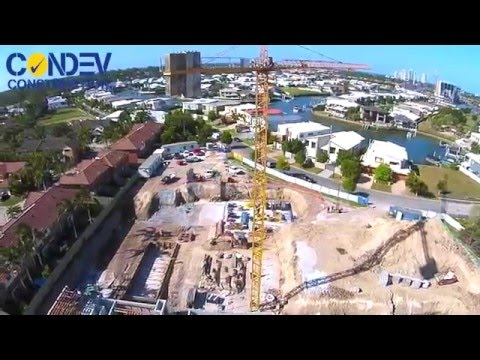 Condev Construction - Harbour Quays Aged Care 7 April 2016 (Biggera Waters, Qld) Drone Video