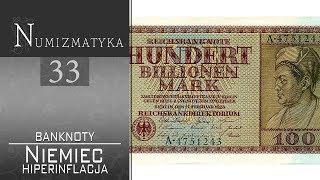 Niemieckie banknoty - hiperinflacja - Numizmatyka cz. 33