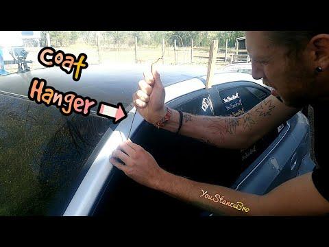 How To Use A Coat Hanger To Unlock Your Car 04 Hyundai Elantra