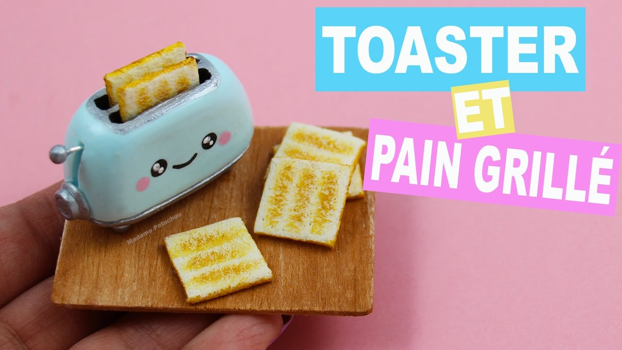 kawaii toaster et pain grill fimo youtube. Black Bedroom Furniture Sets. Home Design Ideas