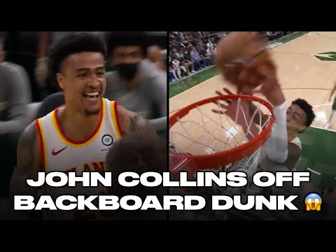 Trae Young Lobs John Collins Off The Backboard For Unreal Dunk