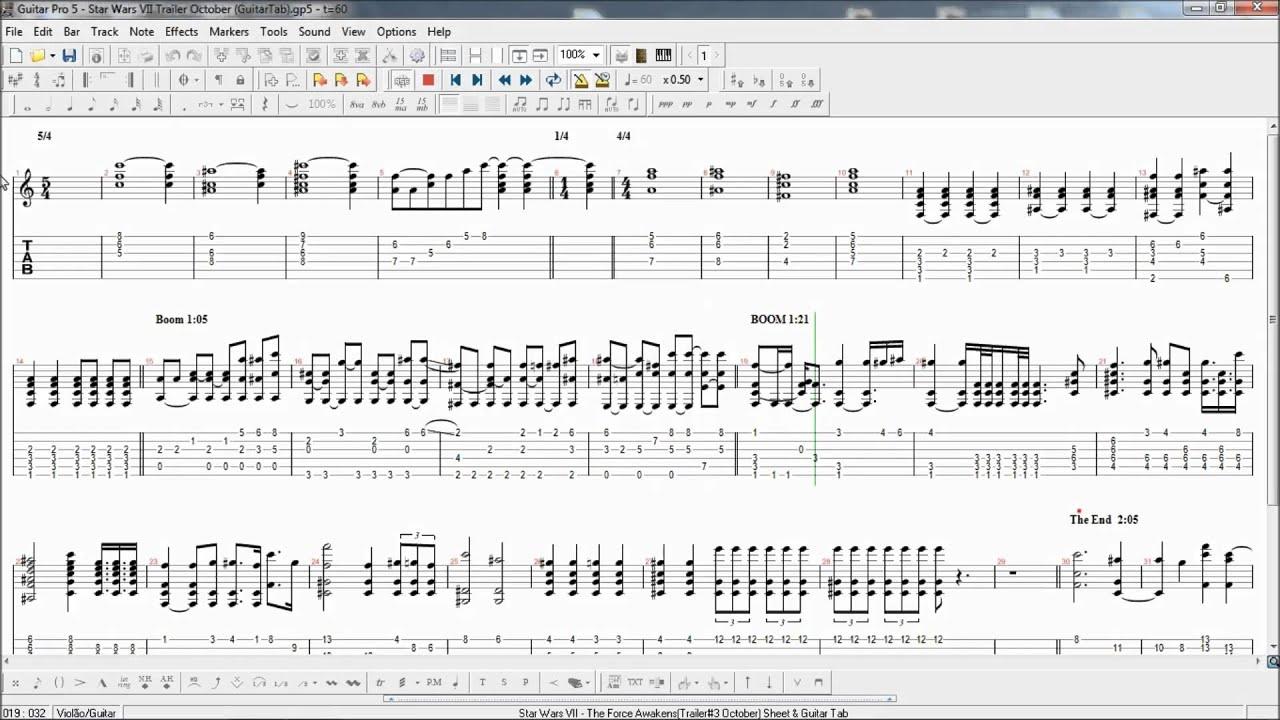 Star Wars Guitar Sheet Music Keninamas