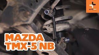 Stabilisatorkoppelstang veranderen MAZDA MX-5: werkplaatshandboek