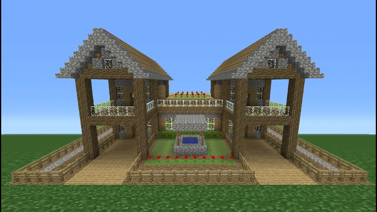 Minecraft Tutorial How To Make A Small Survival House 5