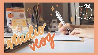 studio vlog ep.06 💌 etsy problems, new shop, and packing orders!
