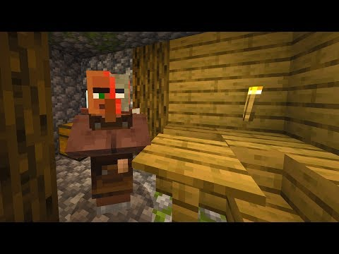 This Minecraft villager is extremely sick.. (Scary)