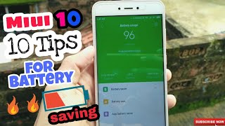 10 Tips and tricks to improve battery in miui 10