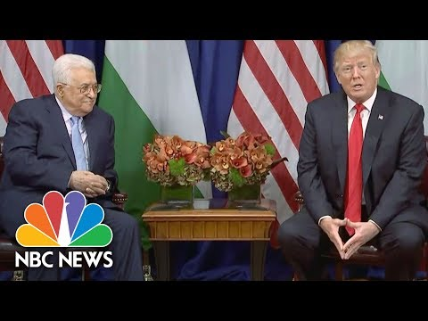 President Donald Trump Meets With Abbas, Says Decision Made On Iran Deal | NBC News