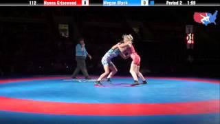 Fargo 2012 112 1st Place Match: Hanna Grisewood (New York) vs. Megan Black (Iowa)