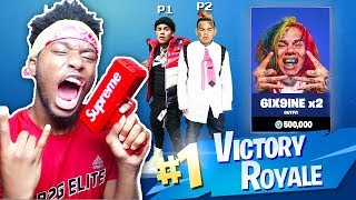 * NUEVO * DOBLE 6IX9INE RETO en Fortnite: Battle Royale! (FEFE GLITCH?)