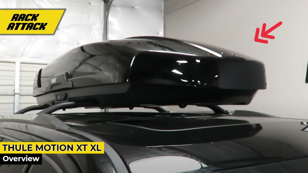 GMC Yukon Denali with Thule Motion XT XL Rooftop Cargo Luggage Box Carrier