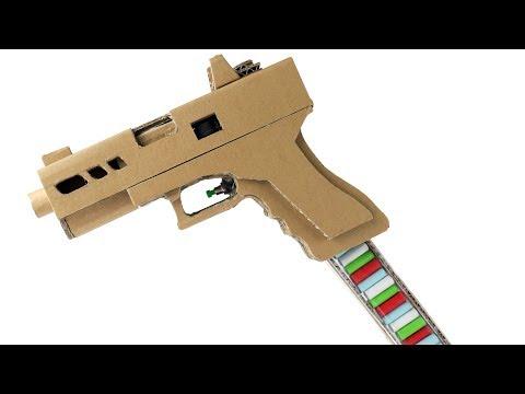 How To Make Glock 19 Full Auto   Cardboard