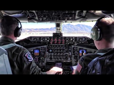 KC-135 Mission At Red Flag 17-1 • Cockpit Takeoff & Landing