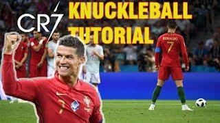 Ternyata GAMPANG, Freekick ala Cristiano Ronaldo || KNUCKLEBALL TUTORIAL