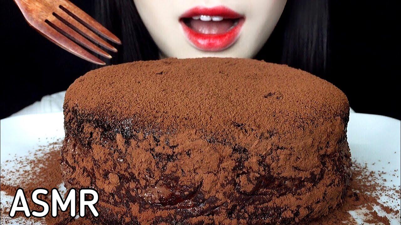 ASMR CHOCOLATE CAKE 리얼사운드 먹방 REAL SOUND MUKBANG