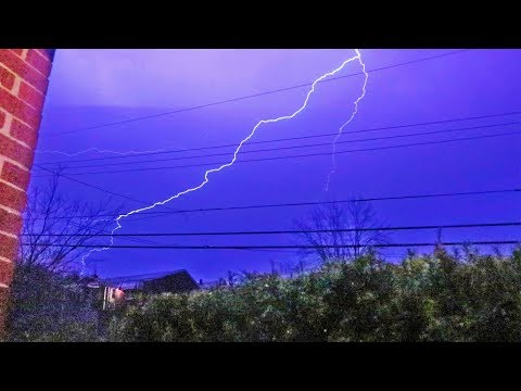 First Storm of 2018! Good Lightning!